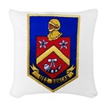 USS DUNCAN Woven Throw Pillow