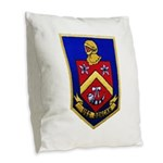 USS DUNCAN Burlap Throw Pillow