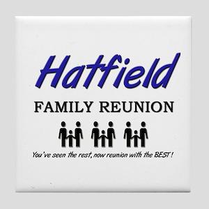 Hatfield Family Reunion Tile Coaster