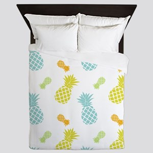Colorful Pineapples Pattern Queen Duvet