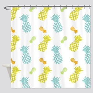 Colorful Pineapples Pattern Shower Curtain