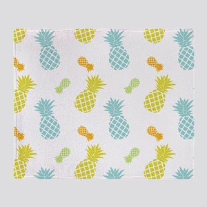 Colorful Pineapples Pattern Throw Blanket