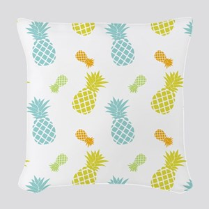Colorful Pineapples Pattern Woven Throw Pillow