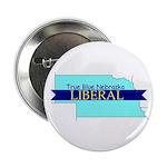 "2.25"" Button (10 pack) True Blue Nebraska LIBERAL"