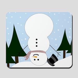 Upside-down Snowman Mousepad