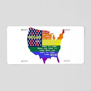 Relax 1984 Aluminum License Plate