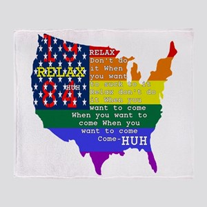 Relax 1984 Throw Blanket