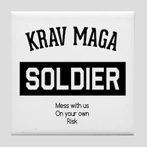 Krav Maga Soldier Tile Coaster