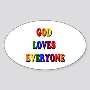 God loves everyone 3-tier Sticker
