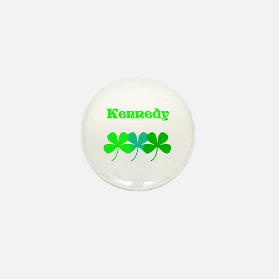 Personalized Irish Name 4 Leaf Clovers Mini Button