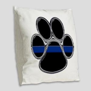 Thin Blue Line Burlap Throw Pillow