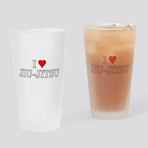 I Love Jiu-Jitsu Drinking Glass