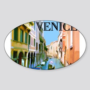 Gondolier in Canal in Venice Sticker