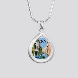 Gondolier in Canal in Venice Necklaces