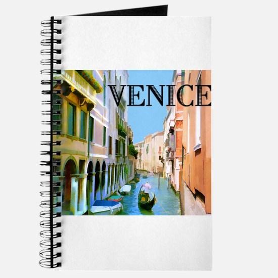 Gondolier in Canal in Venice Journal