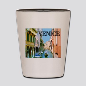 Gondolier in Canal in Venice Shot Glass