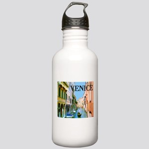 Gondolier in Canal in Stainless Water Bottle 1.0L