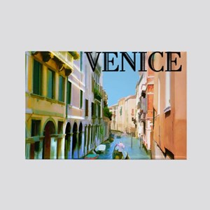 Gondolier in Canal in Venice Magnets