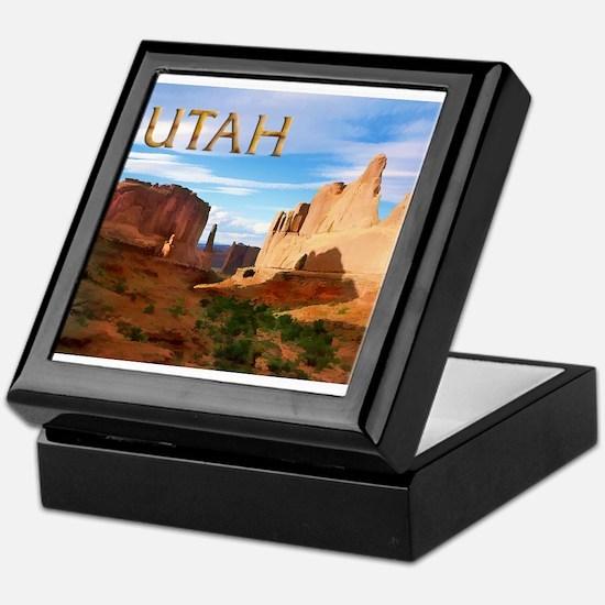 Utah smaller Keepsake Box