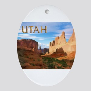 Utah smaller Ornament (Oval)