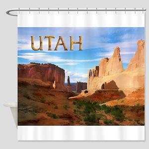 Utah smaller Shower Curtain
