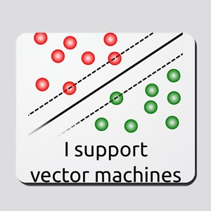 I support vector machines Mousepad