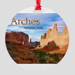 Arches Smaller Round Ornament