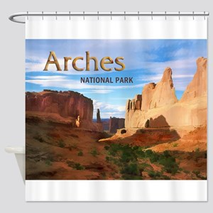 Arches Smaller Shower Curtain