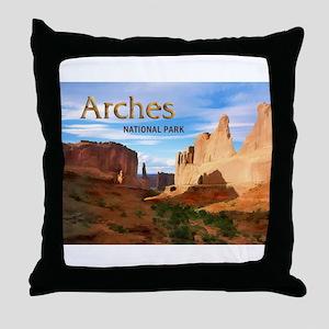 Arches Smaller Throw Pillow
