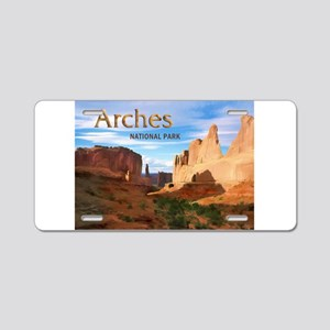 Arches Smaller Aluminum License Plate