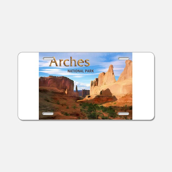 Arches Smaller Aluminum License Plate