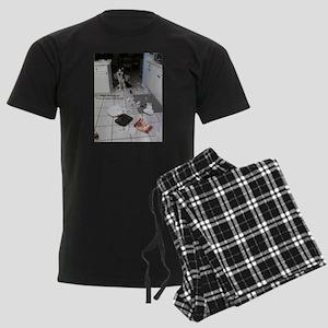 Innocent Siberian Husky Men's Dark Pajamas