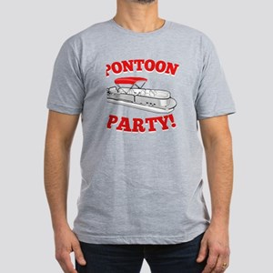 Pontoon Party! Men's Fitted T-Shirt (dark)