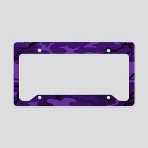 Dark Purple Camo License Plate Holder