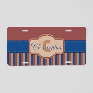 Stripes2015C2 Aluminum License Plate