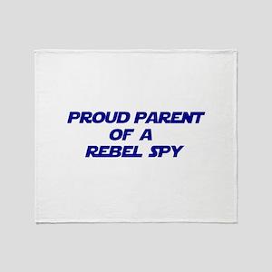 Proud Parent of a Rebel Spy Throw Blanket