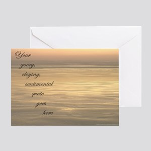 Corny sunset parody Greeting Card