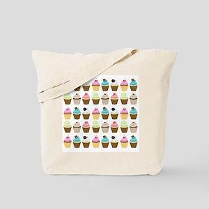 Cute Cupcakes Pattern Tote Bag