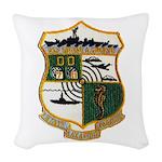 USS EUGENE A. GREENE Woven Throw Pillow