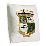 USS EUGENE A. GREENE Burlap Throw Pillow