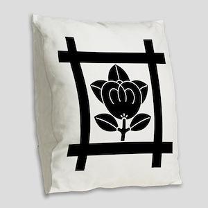 Tachibana of the Nichiren sect Burlap Throw Pillow