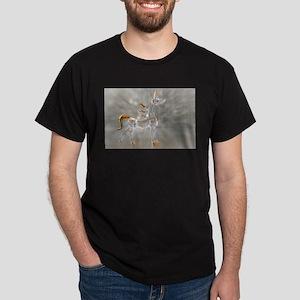 glass gold unicorn figurine photo T-Shirt