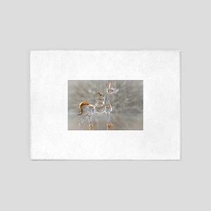 glass gold unicorn figurine photo 5'x7'Area Rug