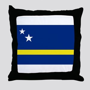 Curacao Flag Throw Pillow