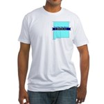 True Blue New Mexico LIBERAL Fitted T-Shirt