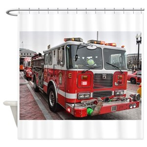 Fire Engine Shower Curtains