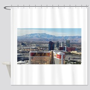 Vegas View Shower Curtain
