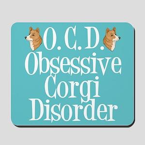Cute Corgi Obsessed Mousepad