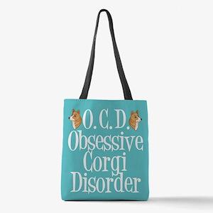 Cute Corgi Obsessed Polyester Tote Bag