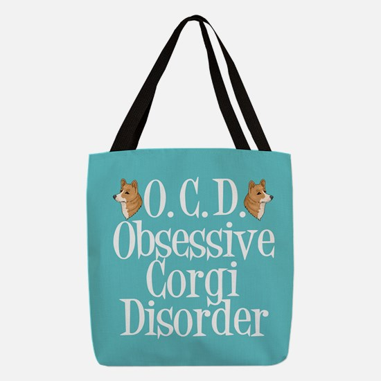 Cute Corgi Obsessed Polyester Tote Bag